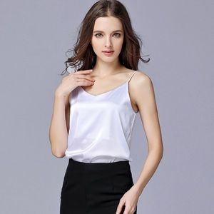 White Silk Camisole Top